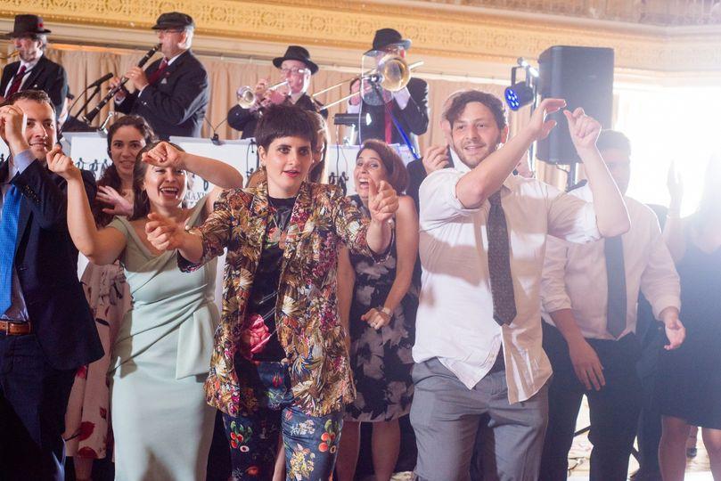 Happy dancers