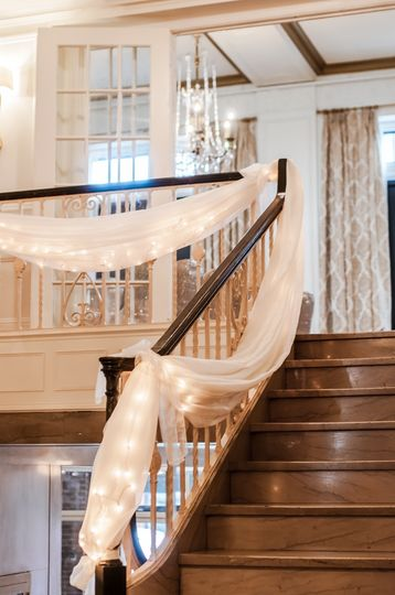 Stairs with draping