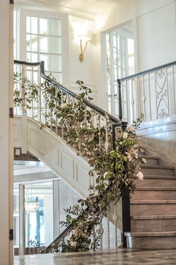 Stairs with greenery