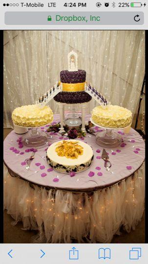 Sweet 16 roses cake