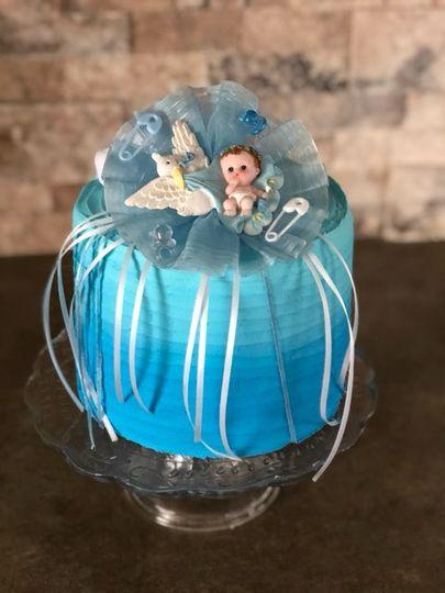 It's a boy ombre cake