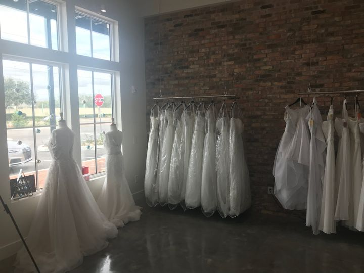 Wedding collection by the brick wall