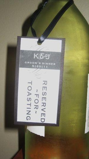 Custom hanging wine labels