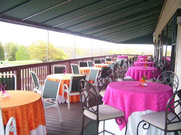 Porch recception venue
