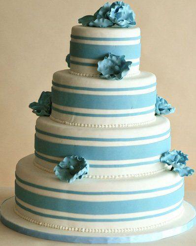 Tmx 1362760353215 Blueweddingcake4 Kingston wedding cake