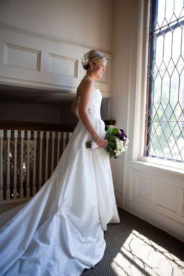 Beautiful Bride at Allen Centennial Gardens in Madison, Wisconsin