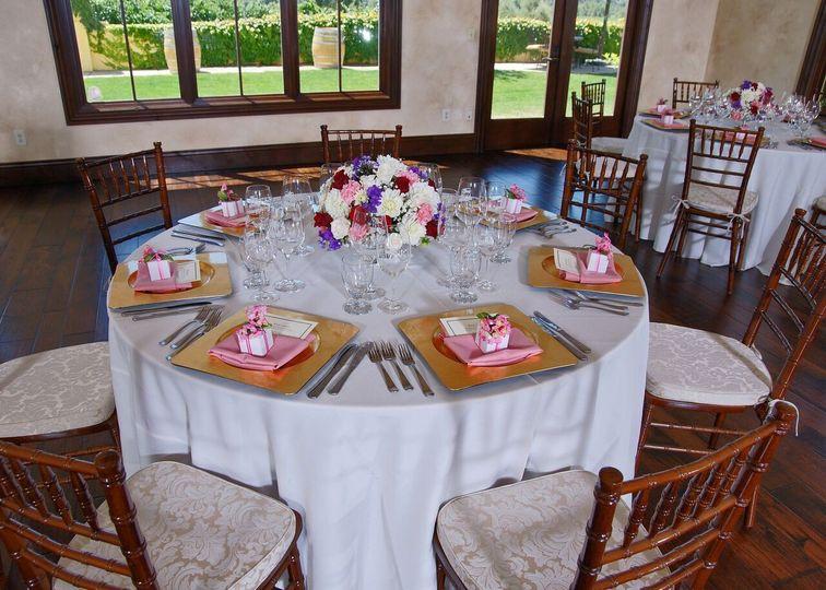 Simple round table setup