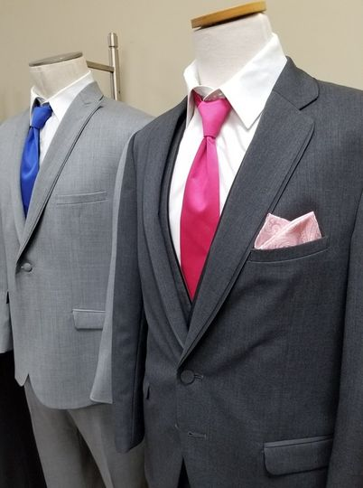 A wide selection of suits