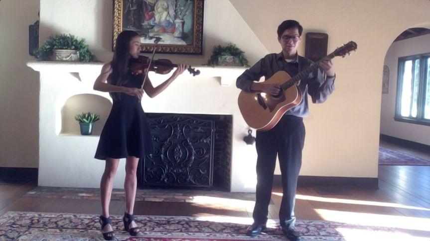 Amy & Luis inside Casa Feliz