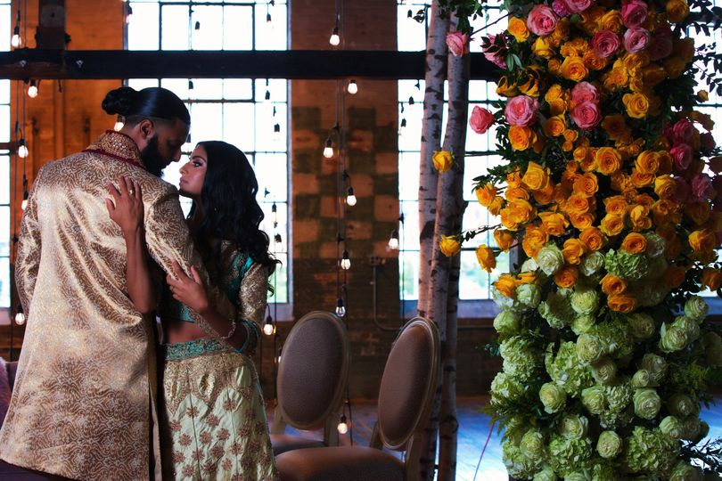 An Indian-style wedding