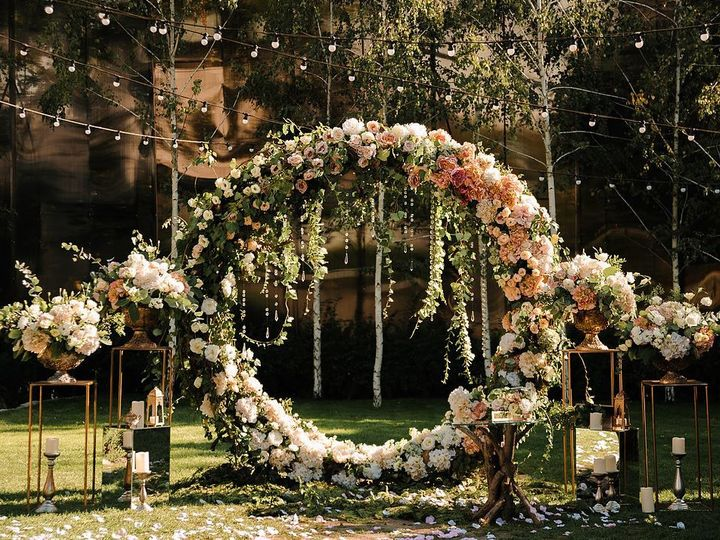 Tmx 1536713819 D4fb08a41570377a 1536713818 8f14600940c2682c 1536713807590 4 Circle Floral Arch Bloomfield, NJ wedding florist