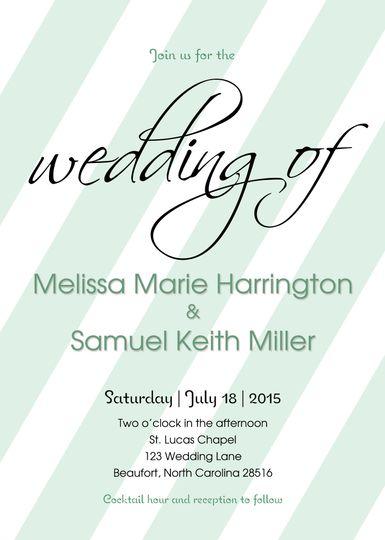 wedding invitation 5x7
