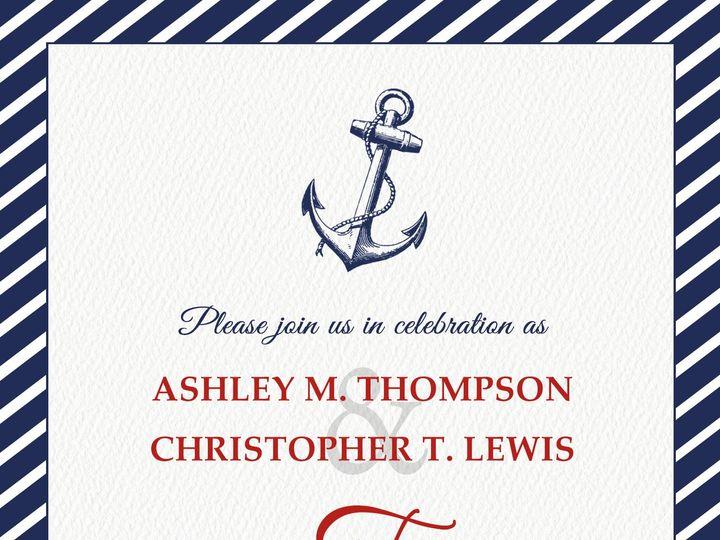 Tmx 1438284515896 Nautical Wedding Invitation 5x7 Cary wedding invitation