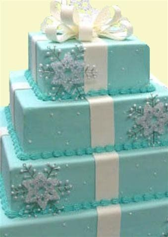 The cake for a winter wedding