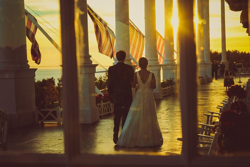 Couple by the sunset