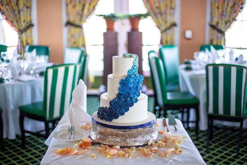 Neat wedding cake