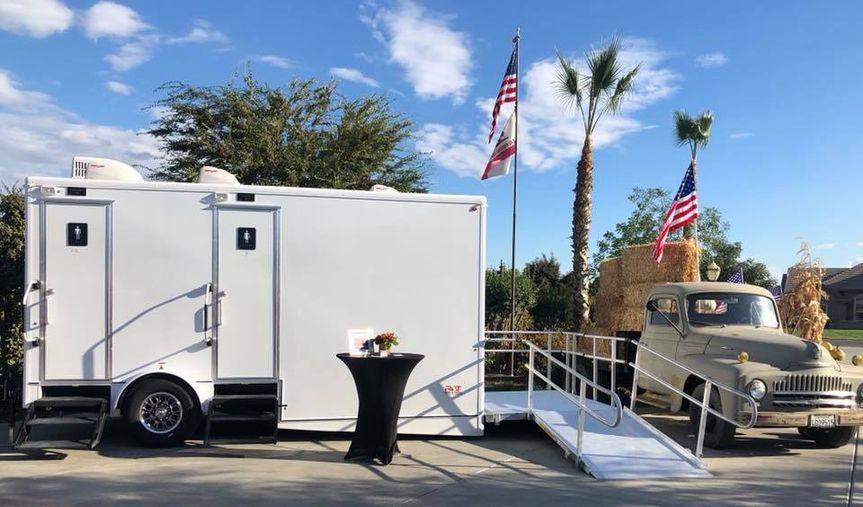 Luxury restroom trailer ADA