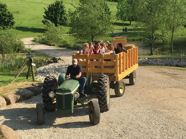 Hay wagon rides!!