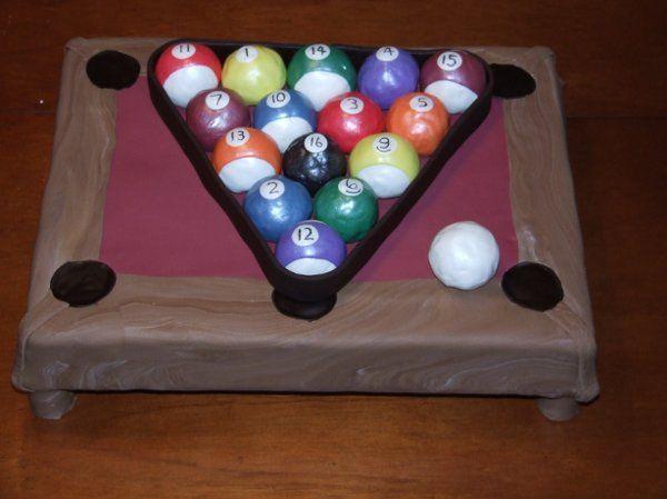 The pool balls are edible.