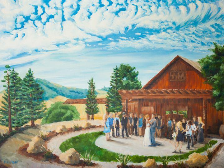 Tmx Live Wedding Painting Pepper Tree Ranch Oil On Canvas Heather Millenaar 51 171395 Atascadero, California wedding favor