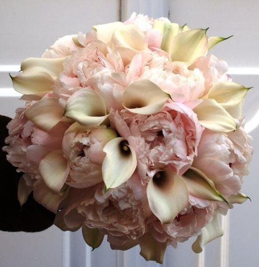 Lovely Peonies & Mini Calla Lilies