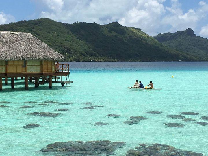 Tmx 1483501548414 Bora Bora Weddingbride Entrance Outrigger Canoe Overland Park wedding travel