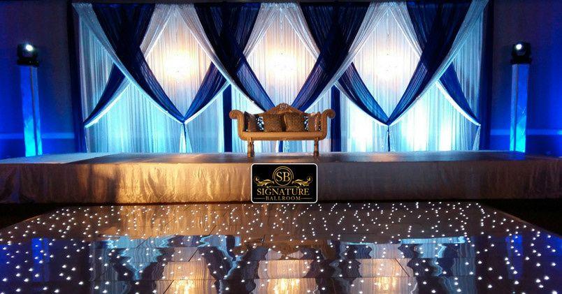 Ballroom drapes and lighting