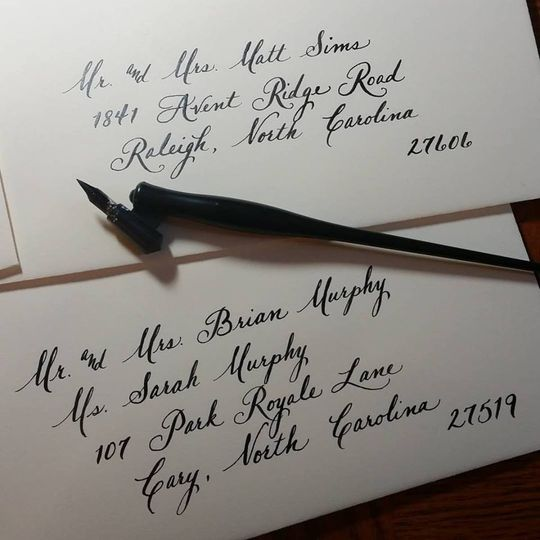 Calligraphy By Cami Invitations Orange Park Fl