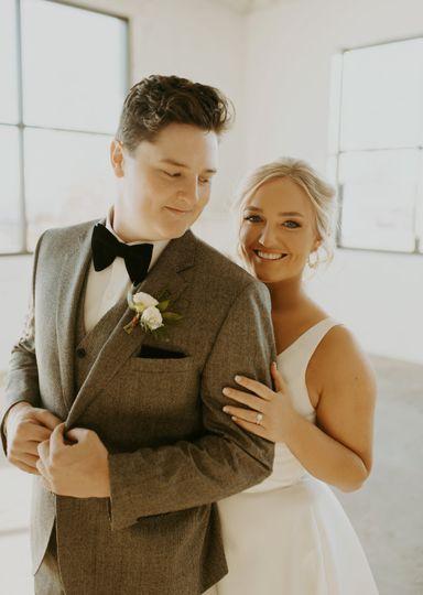 Taryn and Aaron - on their wedding day