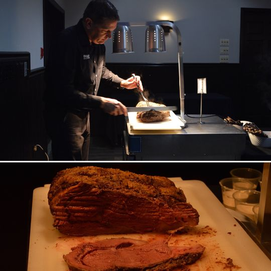 Chef carved prime rib