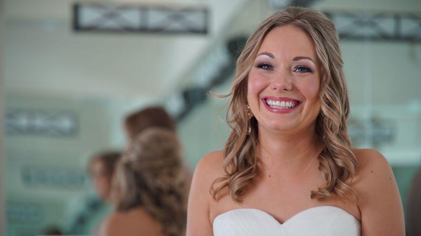 Tiffany enjoying the awesome Bridal Suite at Villa Antonia.