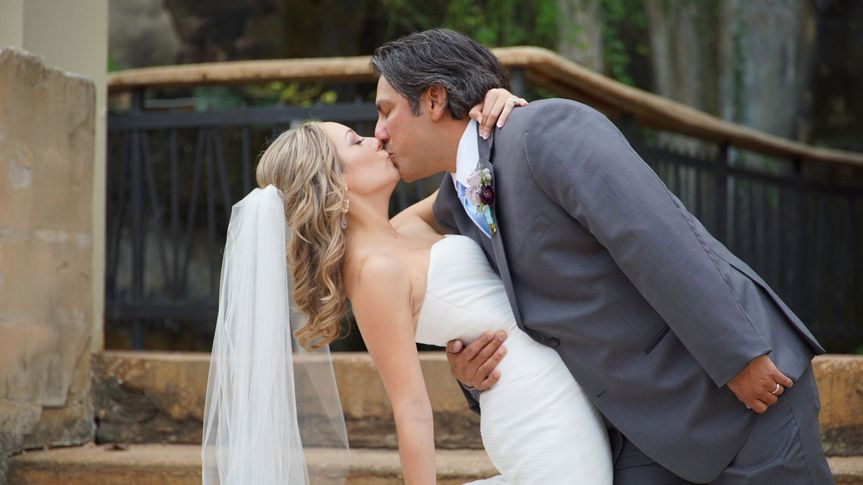 Tiffany & Marty at one of our favorite venues, Villa Antonia.