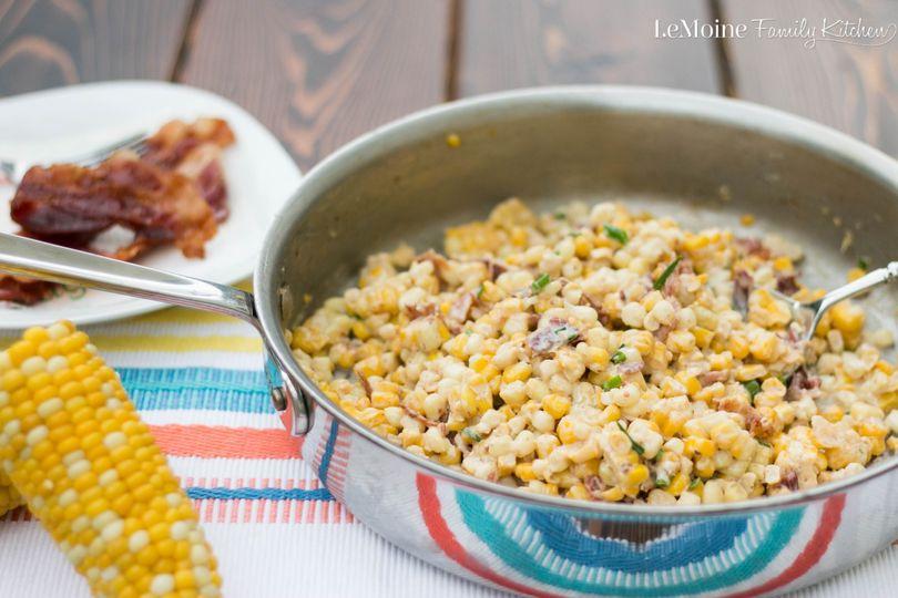 Summer Corn & Bacon Casserole