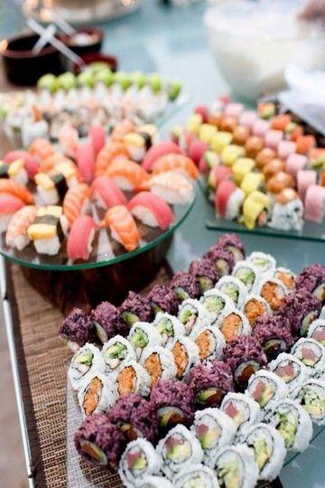 Vibrant sushi platter