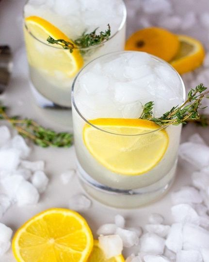 Limoncello and thyme