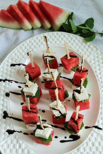 Watermelon & Feta Satays