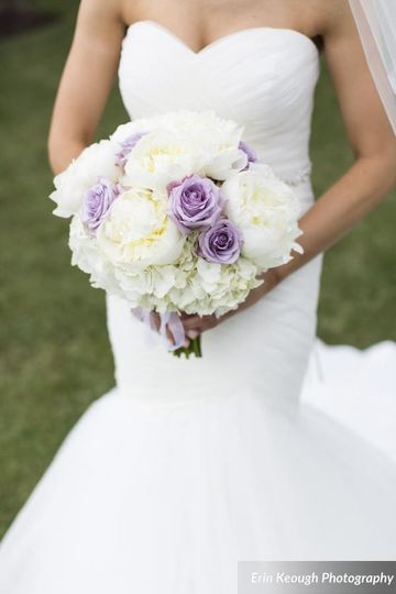 Peony lavender roses