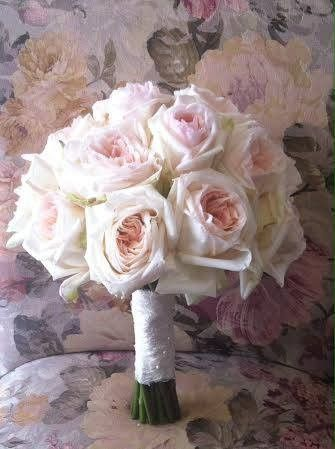 Blush garden rose bouquet