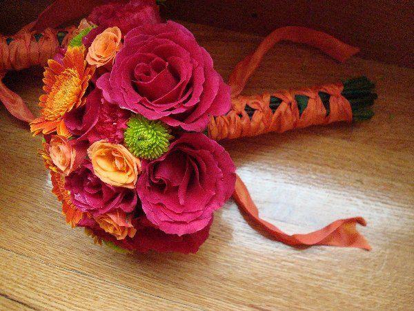 Tmx 1335828379376 HotpinkorangewithgreenaccentsFrenchwrap Baltimore, MD wedding florist