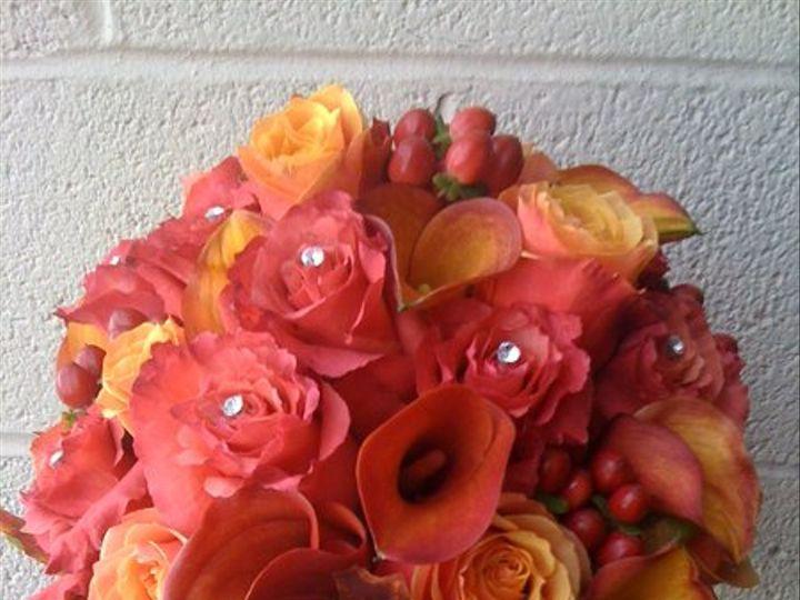 Tmx 1335828459998 Mangocallasdarkmilvarosescherrybrandyrosesredhypericumbouquet Baltimore, MD wedding florist