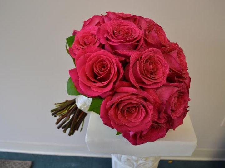 Tmx 1455373925199 Hot Pink Fuchsia Rose Bouquet 2 Baltimore, MD wedding florist
