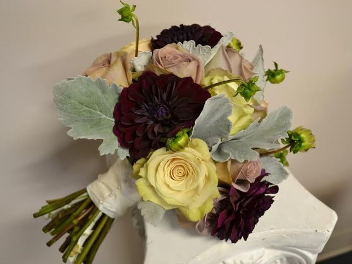 Tmx 1455374064401 Burgundy Dahlia Amnesia Rose Sahara Rose Dusty Mil Baltimore, MD wedding florist
