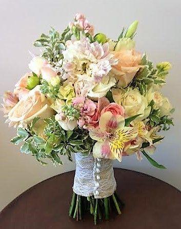 Tmx 1455374323425 Peach Blush Pink Rose Spray Rose Peruvian Lily Dah Baltimore, MD wedding florist