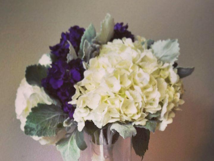 Tmx 1455374503703 Hydrangea Purple Stock Dusty Miller Bouquet Baltimore, MD wedding florist