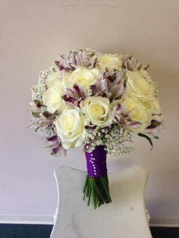Tmx 1455375346953 White Rose Purple Mayfair Peruvian Lily Babys Brea Baltimore, MD wedding florist