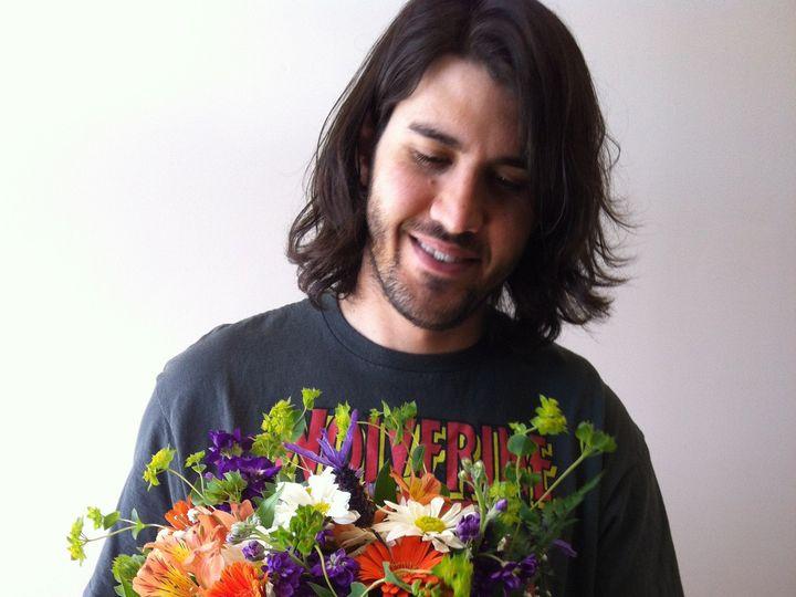 Tmx 1455375450074 Purple Orange Wildflowers Garden Bouquet Baltimore, MD wedding florist
