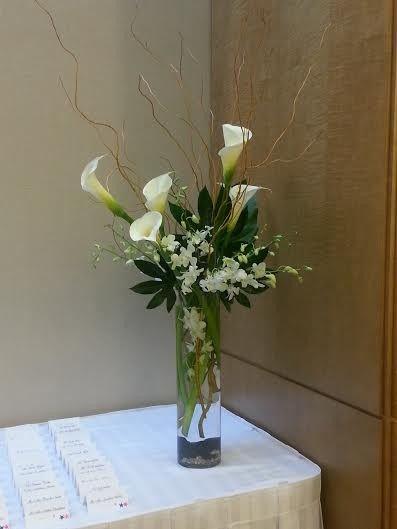 Tmx 1455376254495 Calla Orchid Japonica Tall Centerpiece Escort Baltimore, MD wedding florist