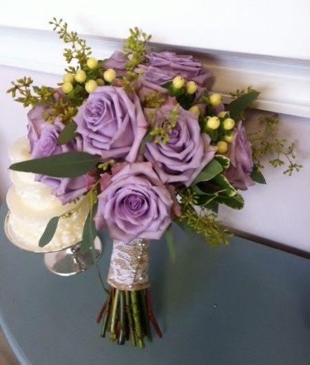 Tmx 1455376269542 Lavender Roses White Hypericum Berries Seeded Euch Baltimore, MD wedding florist