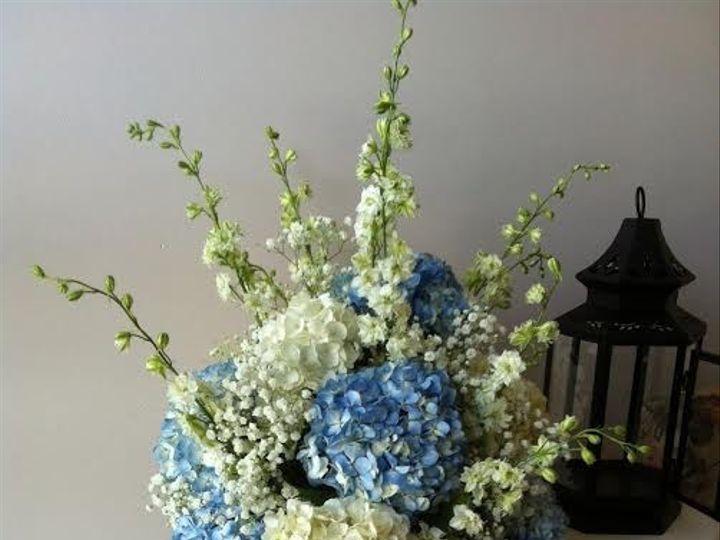 Tmx 1455376338449 Altar Ceremony Blue Hydrangea White Larkspur Babys Baltimore, MD wedding florist