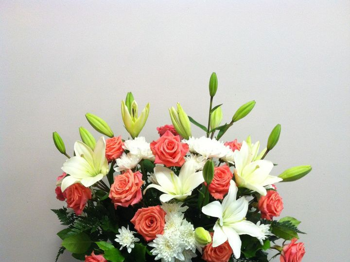 Tmx 1455376386837 Orange White Altar Flowers Ceremony Baltimore, MD wedding florist